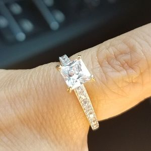 Dainty 14k yellow gold 0.75ct Engagement Ring